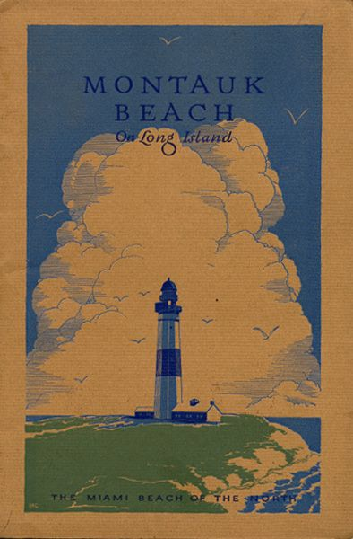 Montauk Beach on Long Island - Front cover