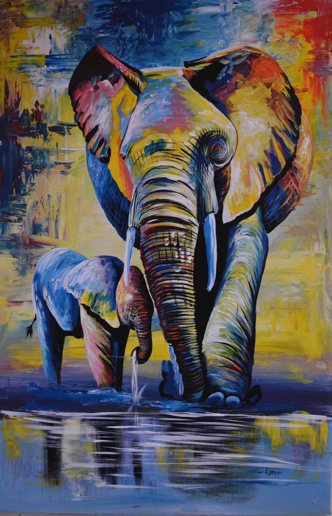 Diy Paint By Numbers Kits VM90075 in 2020 Elephant