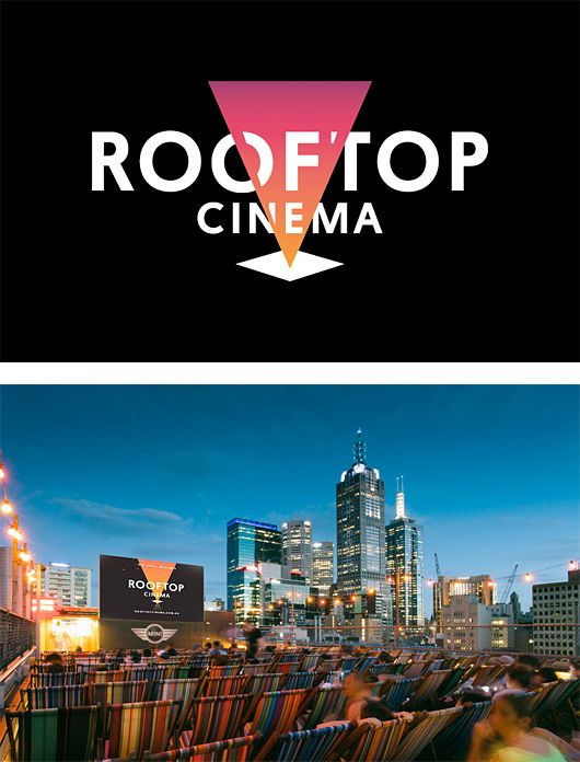 Rooftop Cinema Branding by SouthSouthWest