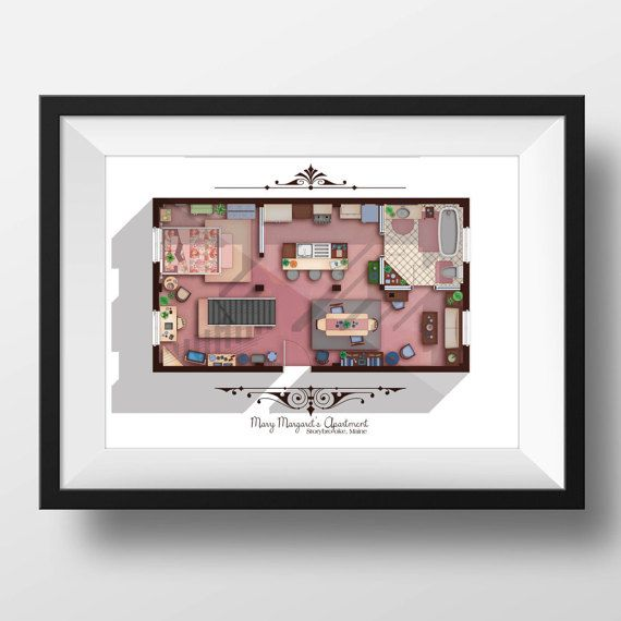 Once Upon a Time TV Show Apartment Floor Plan Mary by DrawHouse