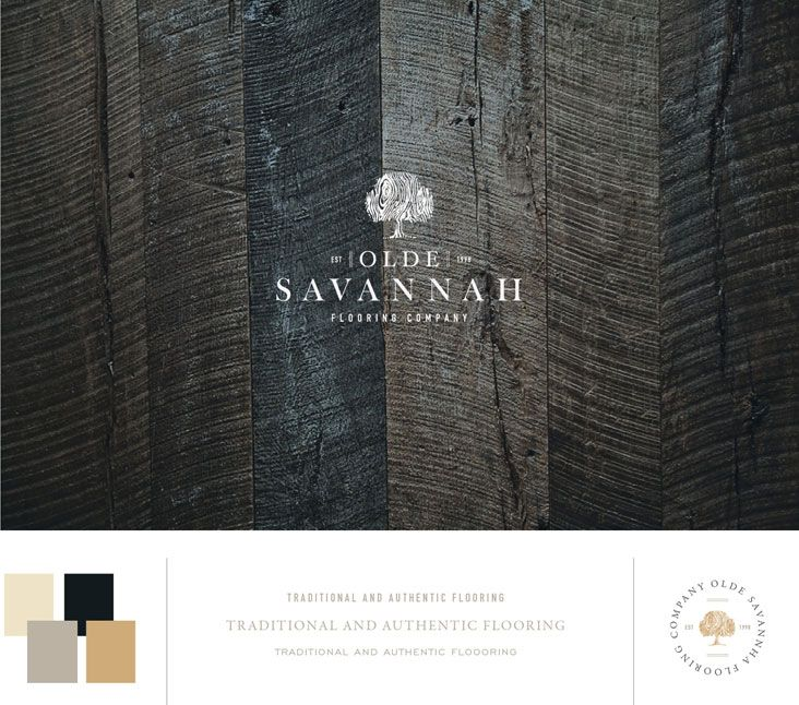 Olde Savannah Flooring Co. Logo Design