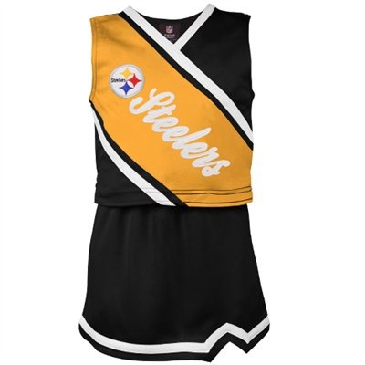 Pittsburgh Steelers Toddler Girls Two-Piece Sleeveless Cheerleader Set - Black/Gold #UltimateTailgate #Fanatics