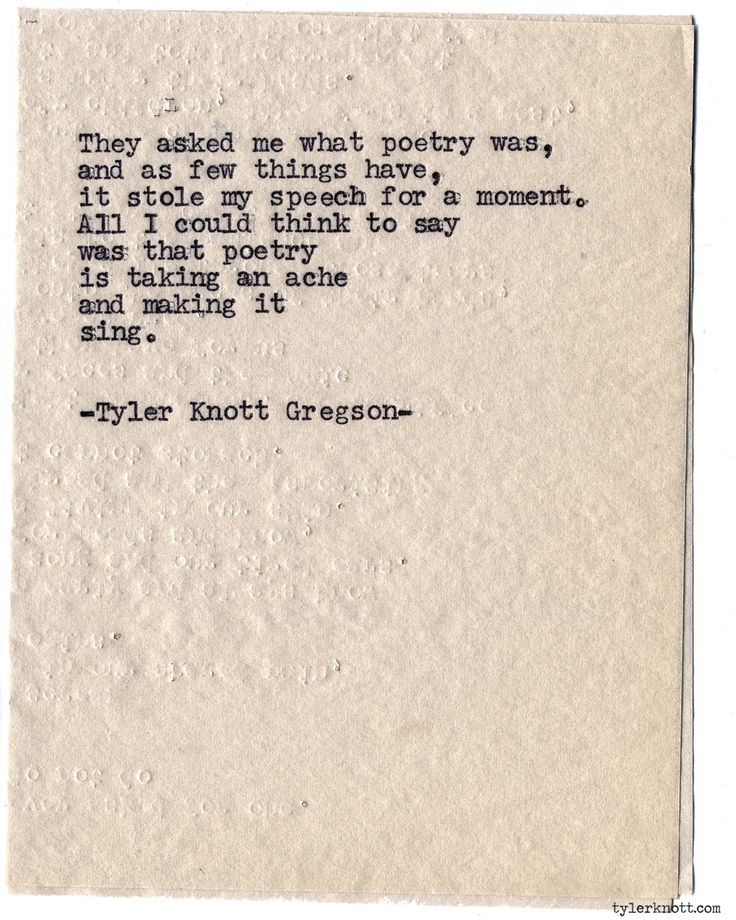 Typewriter Series #961byTyler Knott Gregson *It's official, my book,Chasers of the Light,is out! You can order it throughAmazon,Barnes and Noble,IndieBound,Books-A-Million,Paper SourceorAnthropologie*