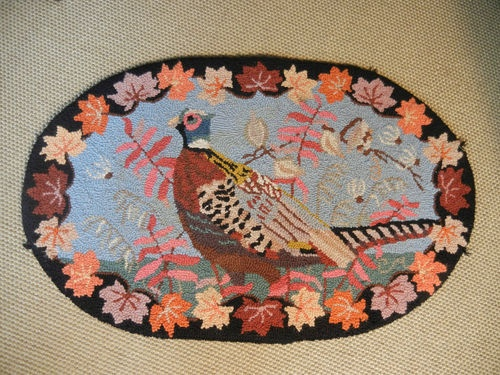 Claire Murray Hooked Pheasant Rug