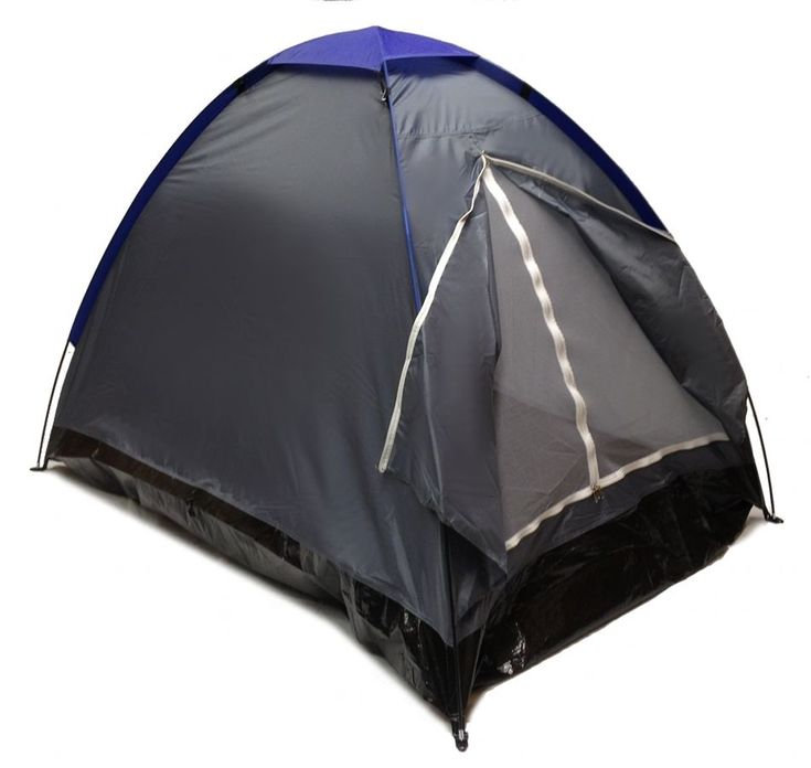 GRAY DOME CAMPING TENT 75  2 Person Two Man GRAPHITE BLUE Sealed Bottom NEW