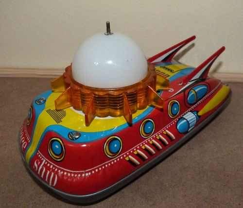 Vintage Ananiades Greece Greek Made Tin Toy Space SHIP VGC Works | eBay