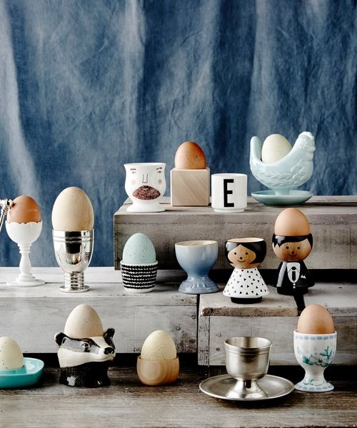 Gorgeous styling of our Danish Bordfolk (table people) eggcups by Aimee Jones #luciekaas #eggcups