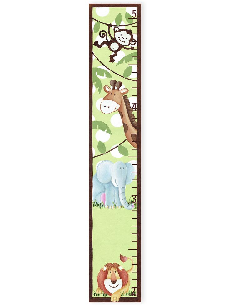 The Kids Room Jungle Buddies Growth Chart