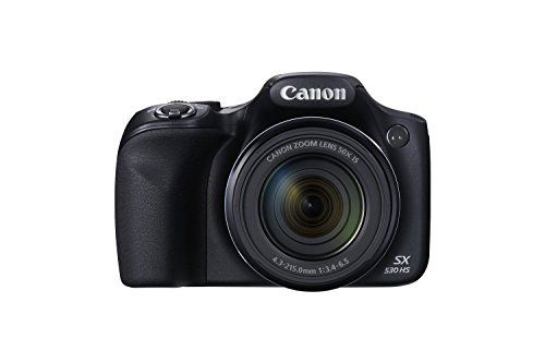 Canon SX530-CR 16.0 MP PowerShot CMOS Digital Camera with 50x Optical Image Stabilized Zoom (24-1200mm) and 3-Inch LCD HD 1080p Video, Certified Refurbished - Black - Type Compact digital still camera with built-in flash, 50x Optical, 4x Digital and 200x Combined Zoom with Optical Image Stabilizer Image Capture Device Type :16.0 Megapixel, 1/2.3-inch CMOS Total Pixels :Approx. 16.8 Megapixels Lens Focal Length :4.3 (W) - 215.0 (T) mm (35mm...