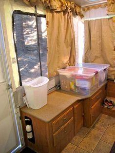 Best Camper Decorating Ideas Images On Pinterest Camper - Pop up trailer with bathroom for bathroom decor ideas