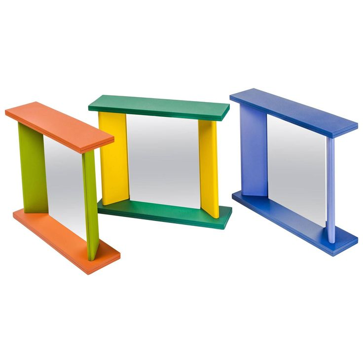 Memphis Table Mirrors by Marco Zanini in vibrant colors, Post Modern 1990s