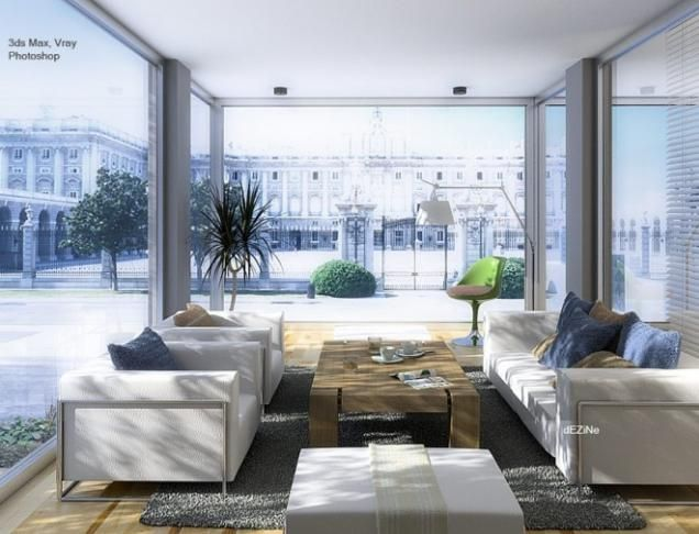 Salon contemporain, variété de tendances modernistes et traditionnelles