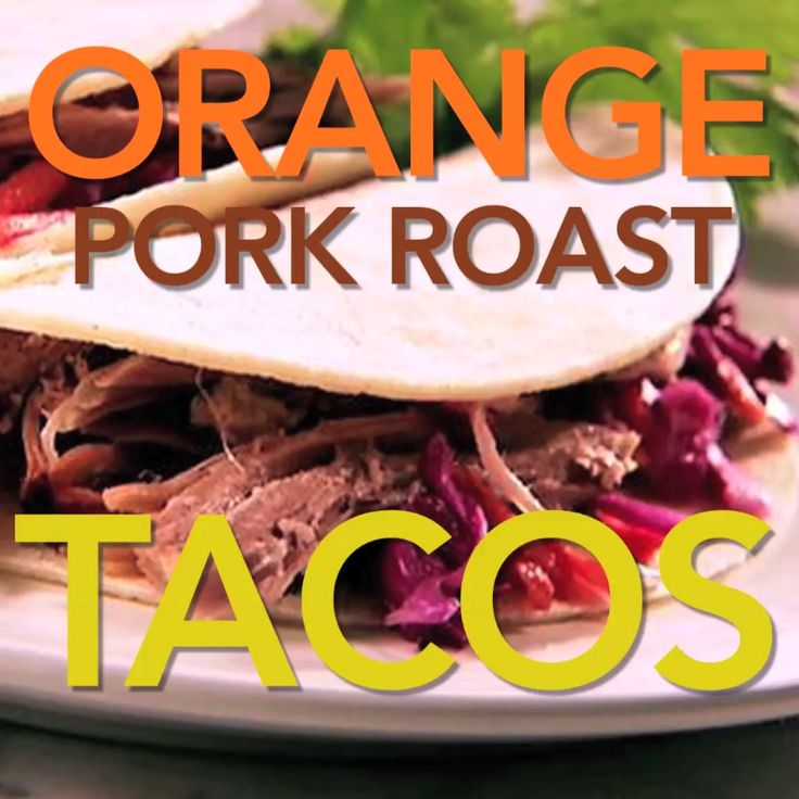 You are going to need extra napkins on hand to handle Sandra's juicy, slow-cooked pork shoulder tacos topped with orange marmalade.