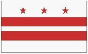 WASHINGTON DC STATE FLAG . $5.75