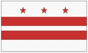 WASHINGTON DC STATE FLAG . $5.75