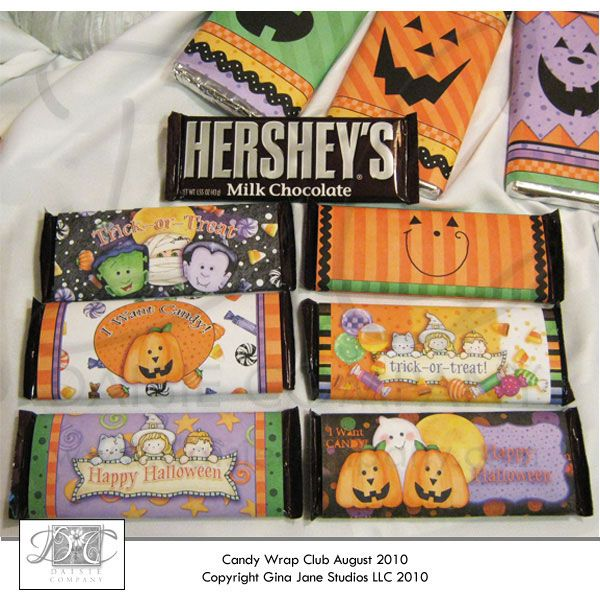 Pumpkin Face Halloween Hershey Candy Wrappers Make Your Own