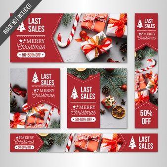 christmas sales banners web