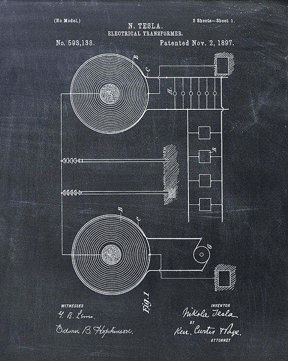Tesla Electrical Transformer patent