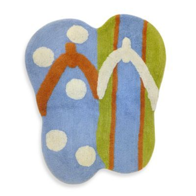 Hang Ten Bath Rug   Bed Bath U0026 Beyond {kids}. Find This Pin And More On Flip  Flop Bathroom ...