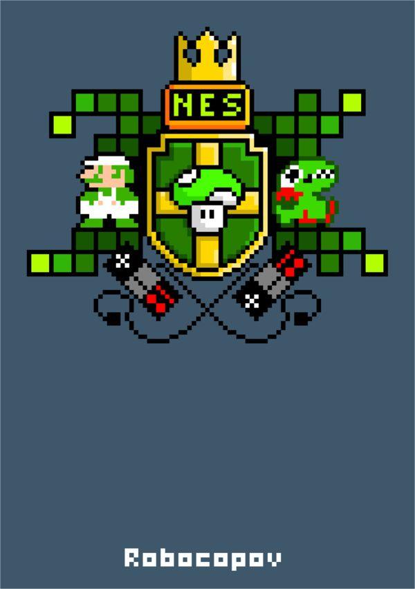 NES generation #nintendo #nes #digitalart