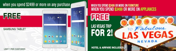 Free Samsung Tablet & Free Trip to Vegas for two!  Check out these amazing giveaways and more this Boxing Day at Lastman's Bad Boy