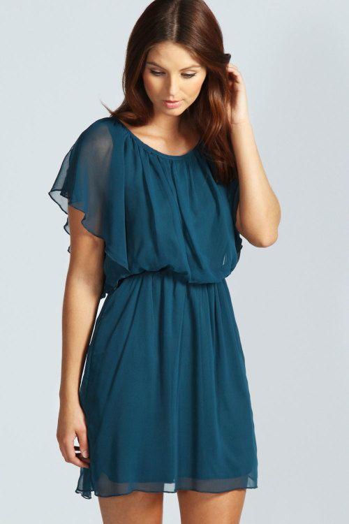 Ava Chiffon Angel Sleeve Dress #ShopSimple