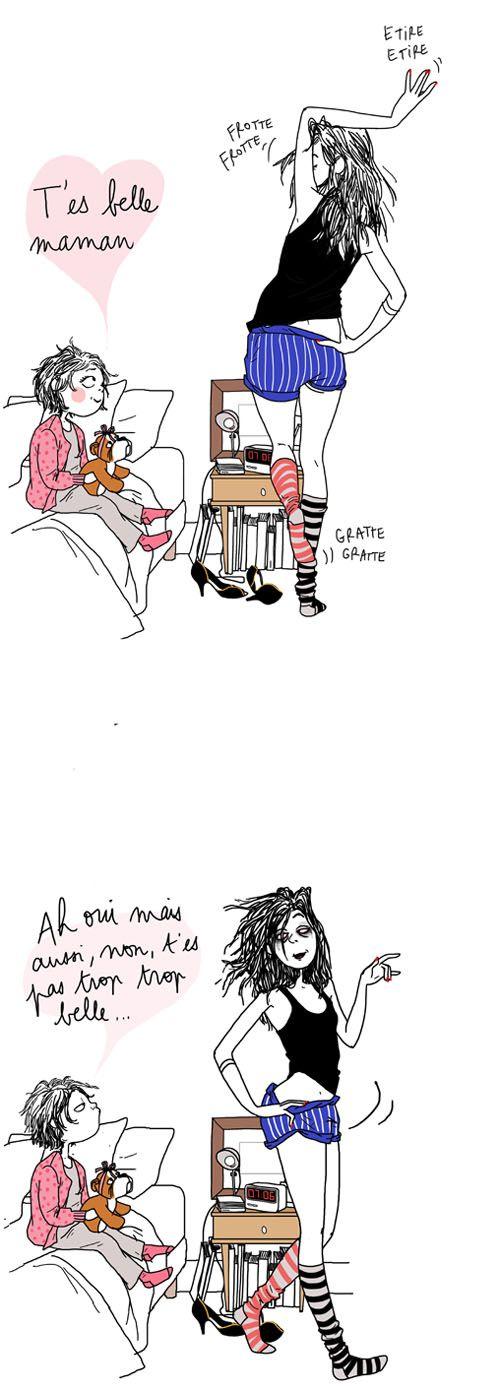 Ahhhh les enfants ...la vérité sort de leur bouche :-) #autoderision margot mottin / illustratrice / dessin