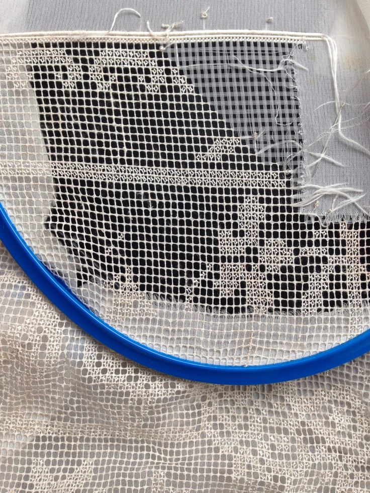 Krep demor kumaş üzerine çamaşır ipeği ile Antep işi filtre ve mercimek ajuru çalıştım