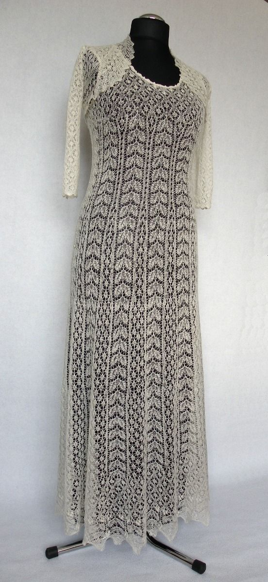Estonian lace dress. What type of material is this made of I wonder. Unbelievable