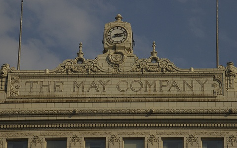 May Company, downtown Cleveland. One of the many fine department stores in downtown Cleveland, now gone.
