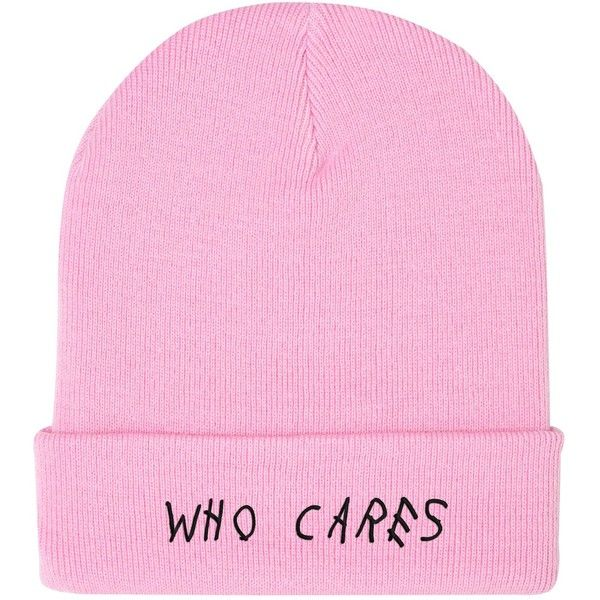 WHO CARES BEANIE (68 BRL) ❤ liked on Polyvore featuring accessories, hats, beanie cap hat, beanie hat, embroidered hats, embroidered beanie and hipster hat