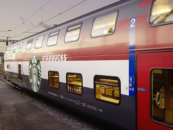 11   This Train Is Hiding A Full Starbucks Store Inside   Co.Design   business + design