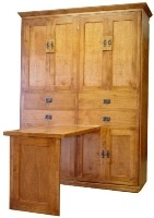 American Craftsman Murphy Bed with Table