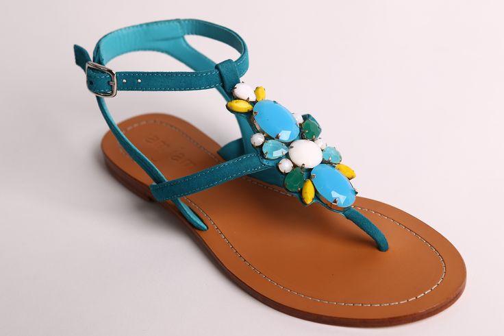 Aqua beaded sandals www.jamjam.com.au #leathersandals #sandals #womensshoes