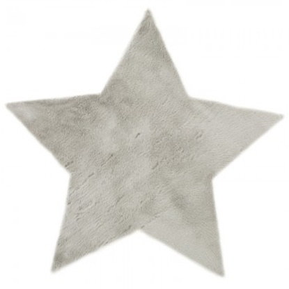 Pilepoil Grey Faux Fur Star Rug