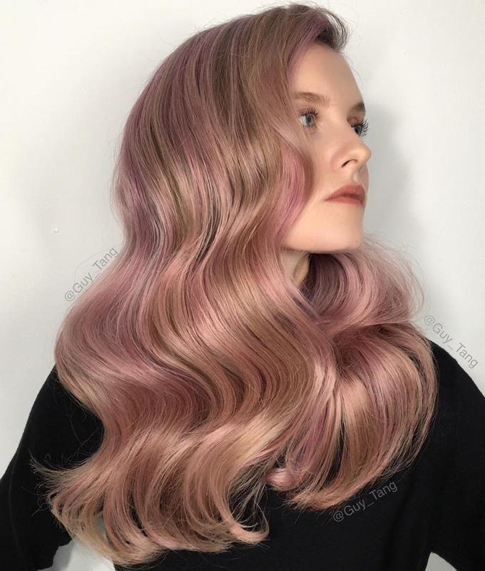 Strawberry blonde o rubio fresa -20 tendencias en  coloración que querrás  probar en tu  cabello este 2018 Blonde blush  honeyrose c66d204af01f
