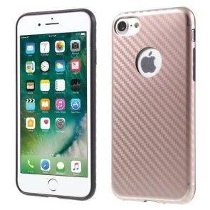 Husa IPhone 7, Carcasa Silicon, Ultraslim, Culoare Rose Gold