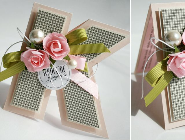 letter card...such a simple but effective  way to personalize a handmade card!