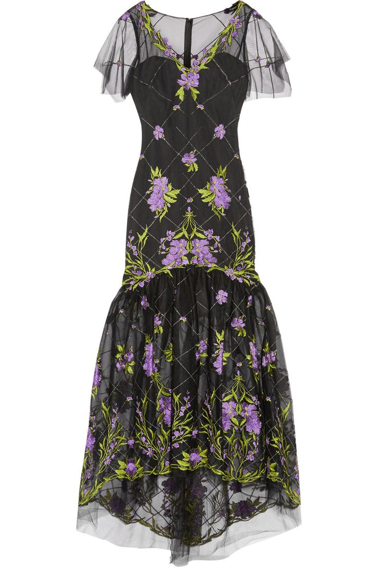 MARCHESA NOTTE Embroidered tulle gown $495.90 http://www.theoutnet.com/products/704769