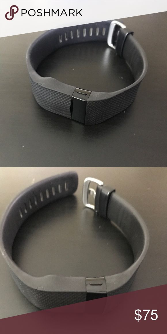 Fitbit Charge HR Fitbit Charge HR 1 - silicone Wrap is slightly warped in the front due to heat - works perfectly - charger NOT included - Size XL Fitbit Accessories Watches