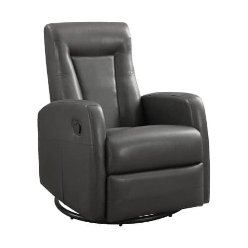 Monarch Specialties Bonded leather swivel rocker recliner III Bonded Leather Swiveling and Rocking Recliner (