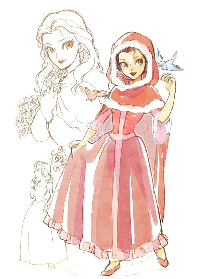 Cute Belle piece. No one ever draws her in that outfit, cool!
