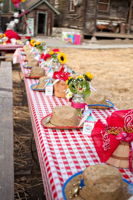 Western/Country Cowgirl Birthday Party Ideas | Photo 2 of 28 | Catch My Party