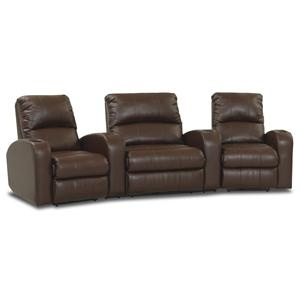 Juno Power Reclining Arm Chair Home Theater Set By Klaussner   Miller  Brothers Furniture   Theater