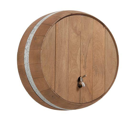 Wine Barrel Wall Mounted Drink Dispenser