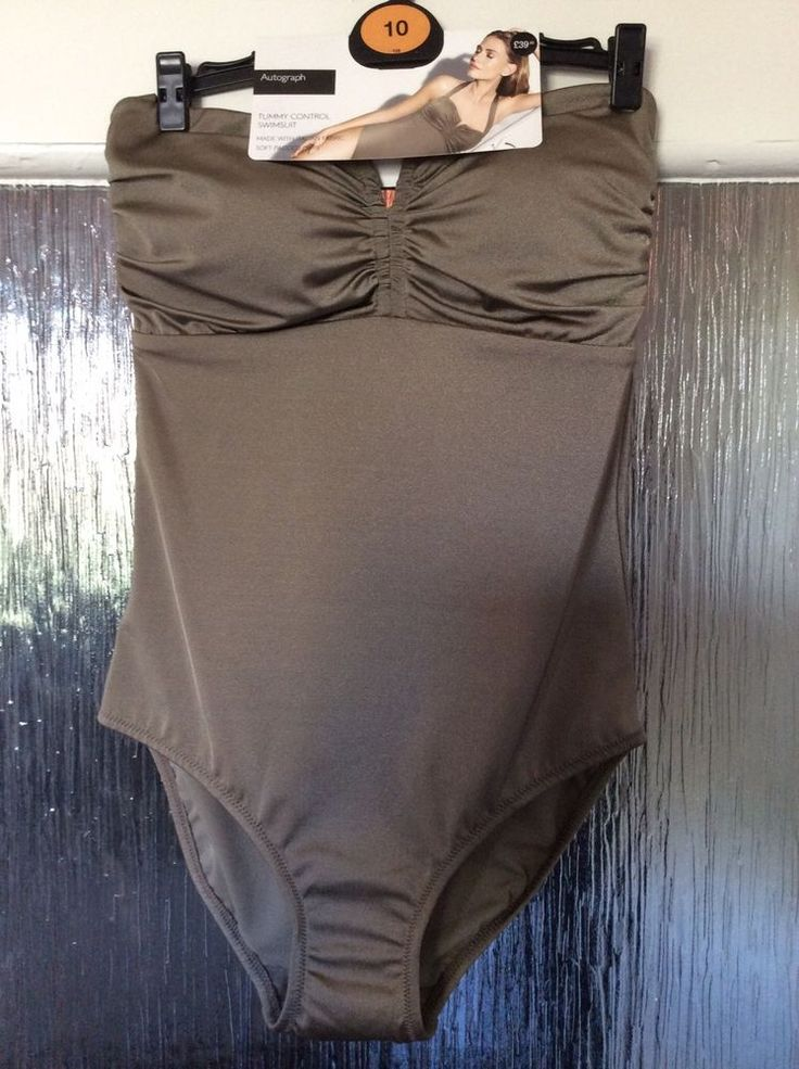 M&S AUTOGRAPH TUMMY CONTROL Swimsuit UK10 with ITALIAN FABRIC BNWT RRP£39.50