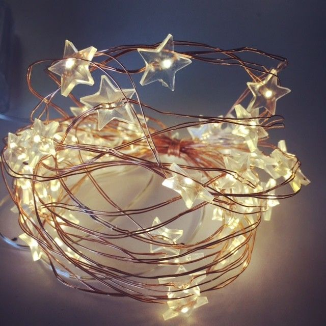 Star Seed Lights Copper Or Silver Wire 5m Battery Fairy Lights Copper Lighting Led Fairy Lights