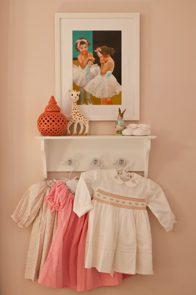 If you're looking for inspiration for a baby girl's nursery that is pink and sweet, but not over-the-top, you must see this room! #NurseryInspiration, Quarter, Baby Girl Nurserys, Vintage, Ballerinas Art, Projects Nurseries, Baby Girls, Carrie Hangers, Girls Nurseries