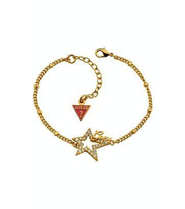 Indruk maken op haar met je cadeautje. Lettelijk een gouden tip: dit armbandje van Guess. Schitterend!