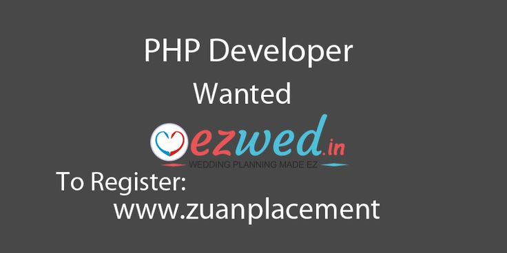Referral Walkin drive for #PHP developer via @zuanplacement Company Name: EZWed Experience: 1+ year experience in frontend developing For complete job information register in below url http://www.zuanplacement.com/job/php-developer-wanted-in-ezwed-via-zuan-placement/ #PHPDeveloper #Wanted #DeveloperJobs #interview #Developer #Jobsinterview #Interview @zuanplacement